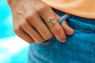 Gold Sunset Ring by Pura Vida