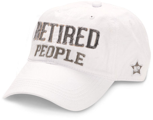 Retired People White Cap