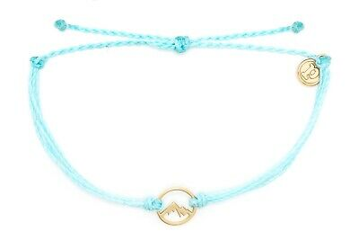 Gold Sierra Charm Bracelet by Pura Vida - Ice Blue