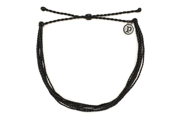 Solid Black Original Bracelet by Pura Vida