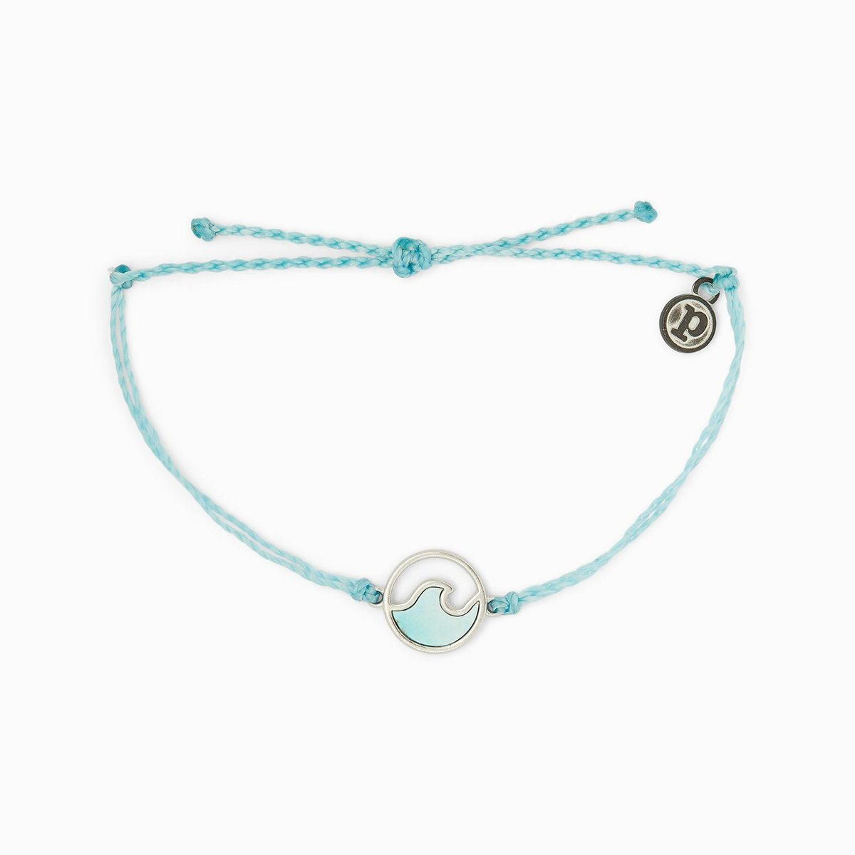 Stone Wave Charm Bracelet by Pura Vida - Crystal Blue