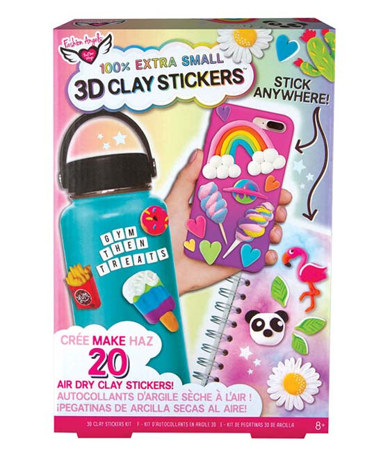 3D Mini Clay Sticker Set