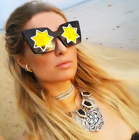UNIQUE FIVE-POINTED STAR MIRRORED SUNGLASSES - TECHNOCATZ