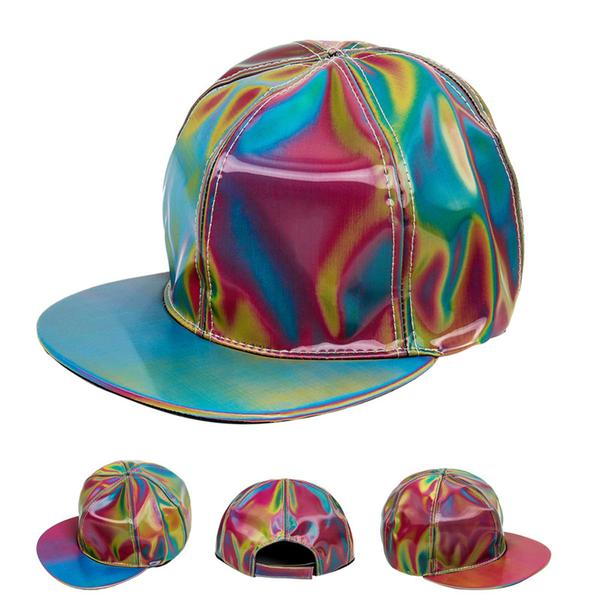 MARTY MCFLY BACK TO THE FUTURE RAINBOW COLOR LASER HAT / CAP