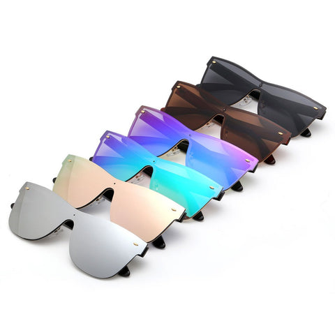 MIRROR CONJOINED LENS SUNGLASSES - TECHNOCATZ
