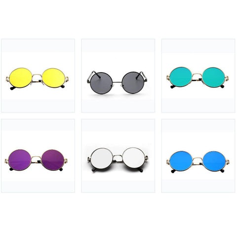 ROUND RETRO SUNGLASSES - TECHNOCATZ