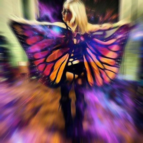 BUTTERFLY WINGS TAPESTRY CAPE - TECHNOCATZ