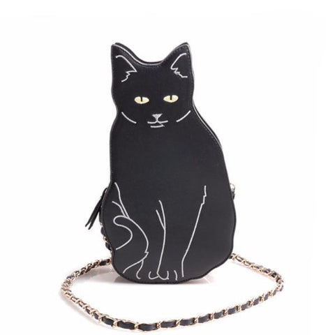 BLACK CAT FANTASY HANDBAG - TECHNOCATZ