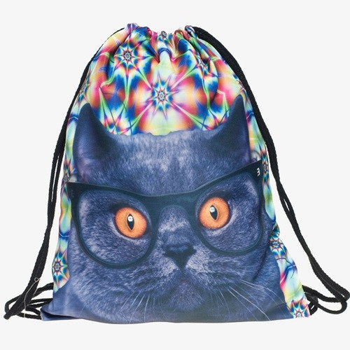 SPACE CAT DRAWSTRING BAG - TECHNOCATZ