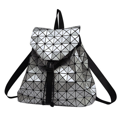 GEOMETRIC REFLECTIVE BACKPACK - TECHNOCATZ
