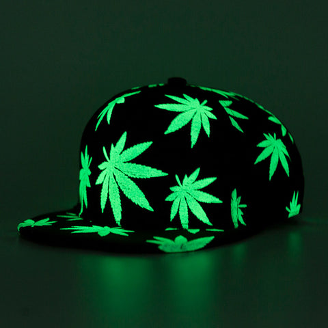 GLOW IN THE DARK MARIJUANA CAP - TECHNOCATZ
