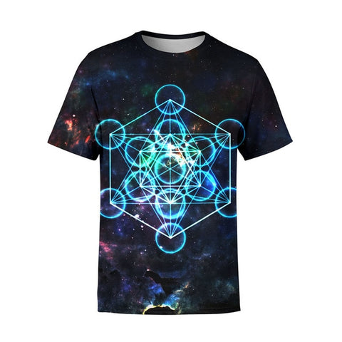 3D TRIPPY ATOMIC ENERGY PSYCHEDELIC RAVE T-SHIRT - TECHNOCATZ