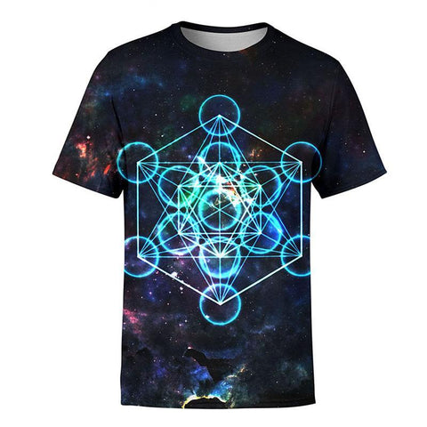 ATOMIC PARTICULES OF LIGHT PSYCHEDELIK RAVE SHIRT - TECHNOCATZ