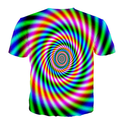 PSYCHEDELIC SWIRL DYNAMIC COLORS TSHIRT - TECHNOCATZ