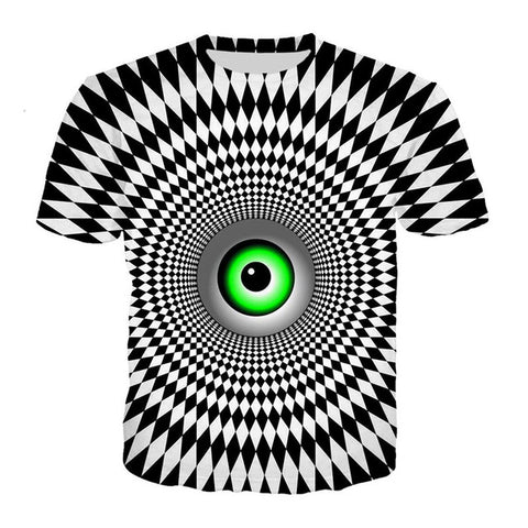 ALL KNOWING EYE OF TRUTH AND WISDOM PSYCHEDELIK T-SHIRT - TECHNOCATZ
