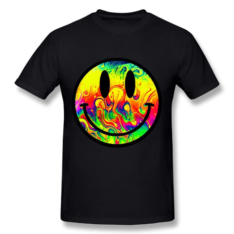 PSYCHEDELIC ACID SMILEY TSHIRT - TECHNOCATZ