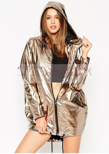 FLASHY LASER RAINBOW REFLECTIVE HOODIE JACKET - TECHNOCATZ