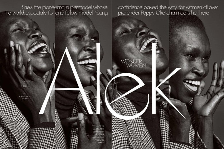 Alek Wek Elle Uk
