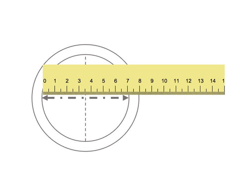 Measure the ring diameter - ring size tool