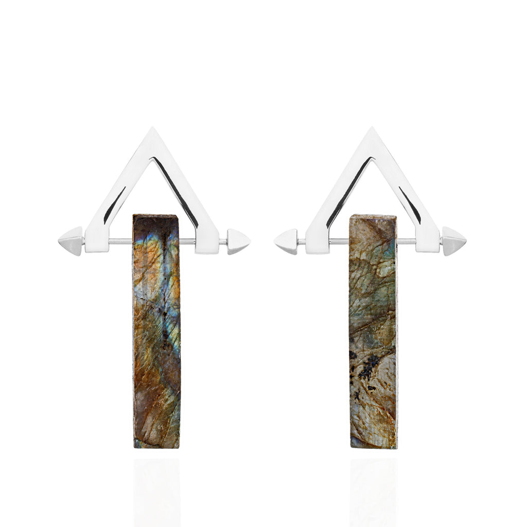 Be You, Long Gemstones for Earrings - Labradorite