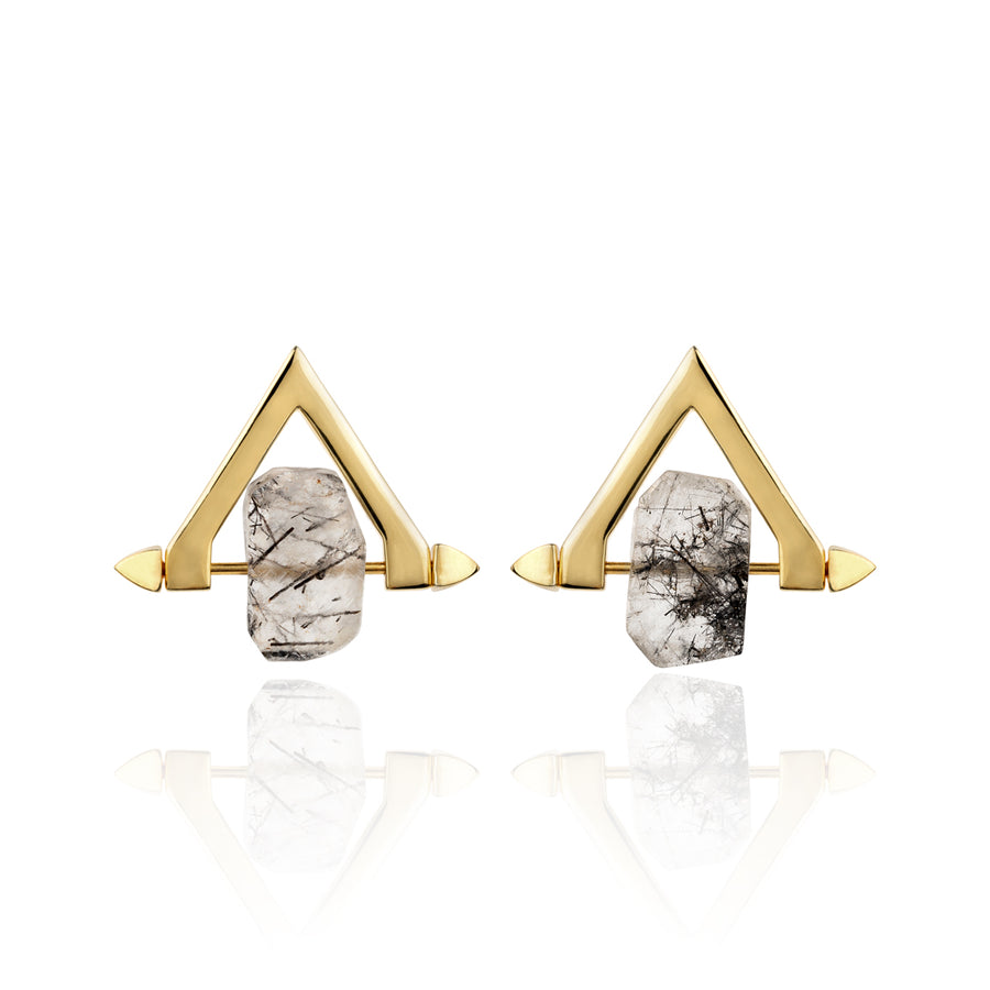 Be You, Short Gemstones for Earrings - Black Rutilated Quartz