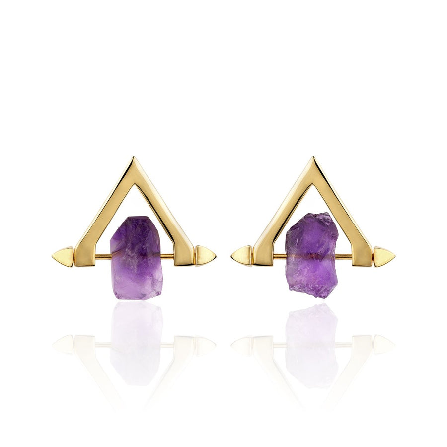 Be You, Short Gemstones for Earrings - Amethyst