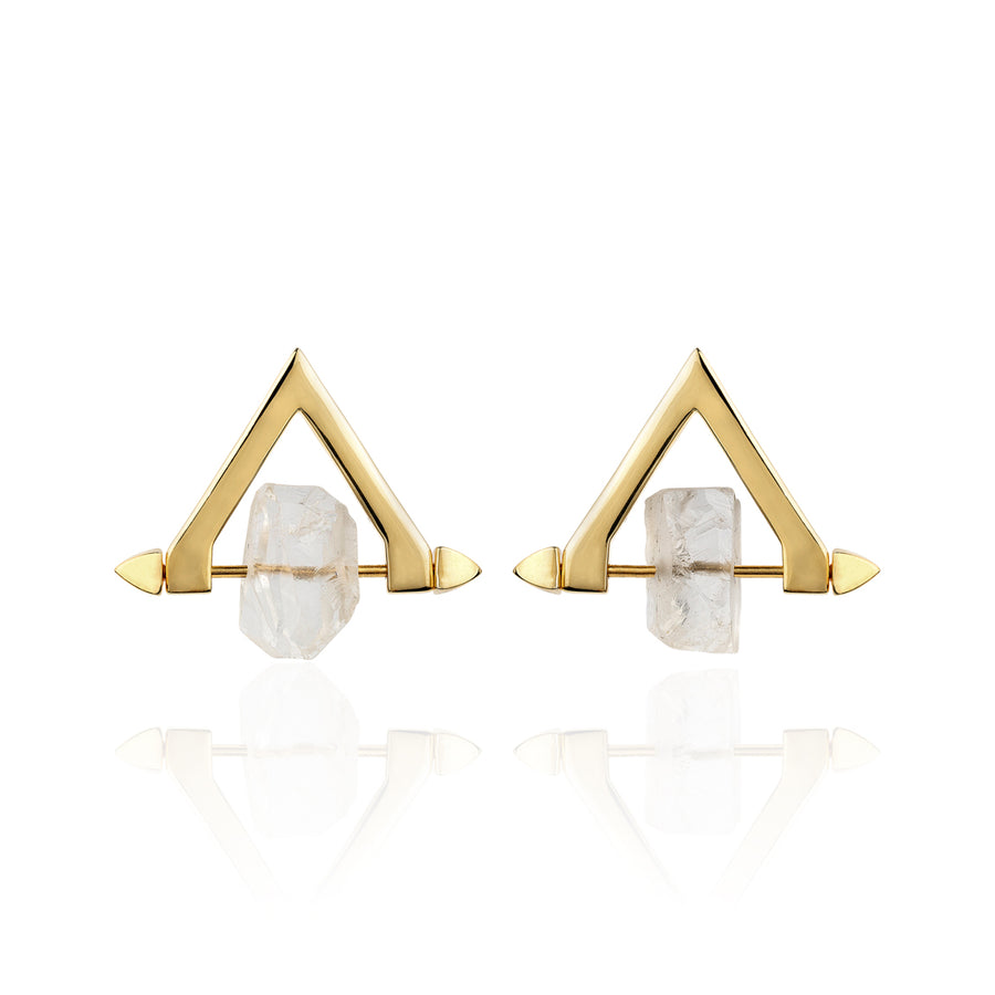 Be You, Short Gemstones for Earrings - Crystal Quartz