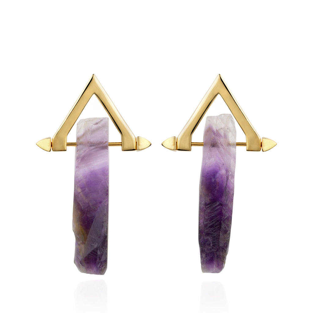 Be You, Gold Earrings (BUY GEMSTONES SEPARATELY)