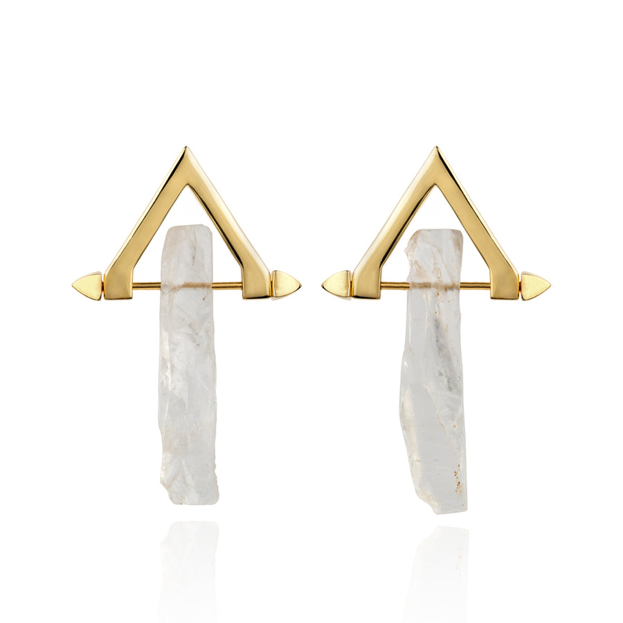 Be You, Long Gemstones for Earrings - Crystal Quartz