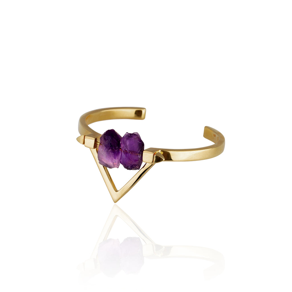 Be You, Gold Cuff  (BUY GEMSTONES SEPARATELY)