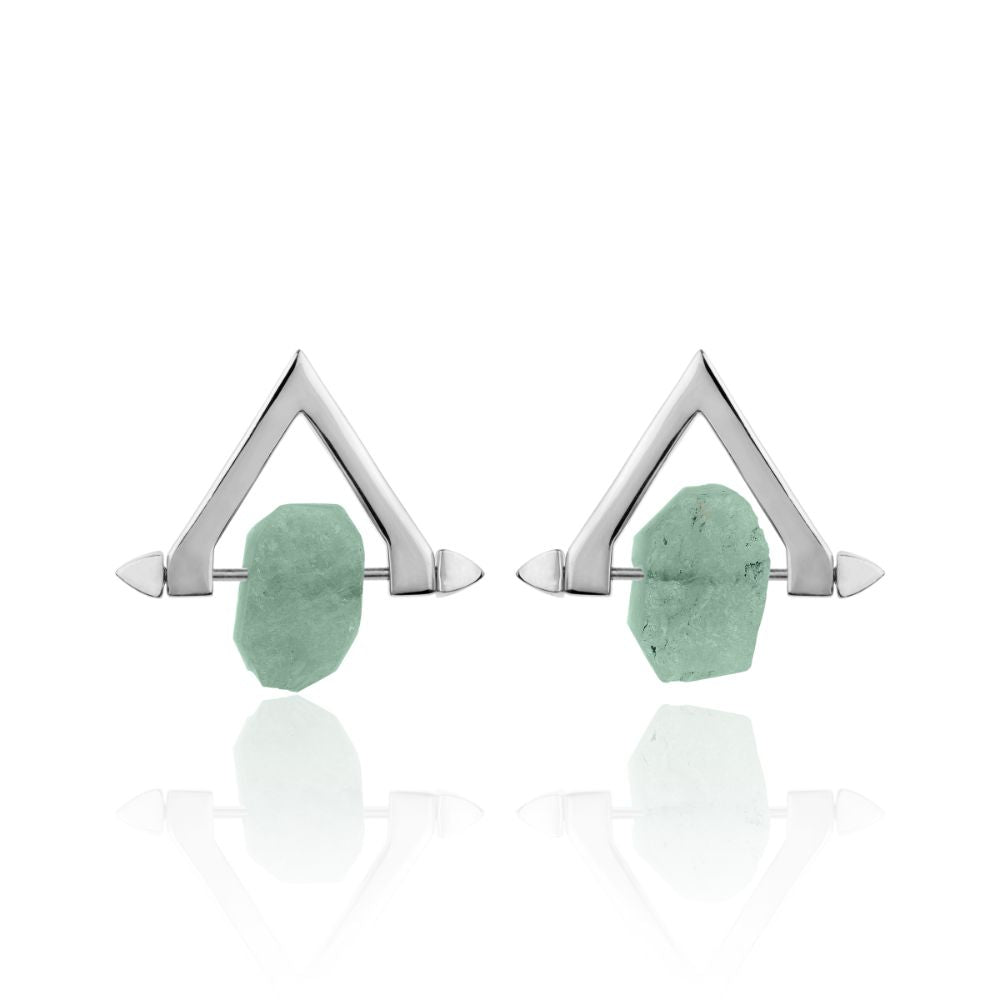 Be You, Silver Earrings (BUY GEMSTONES SEPARATELY)