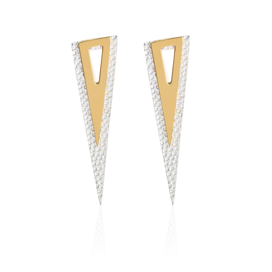 Who Says We Can't Change? Spike Earrings (5 in 1), Gold and Silver
