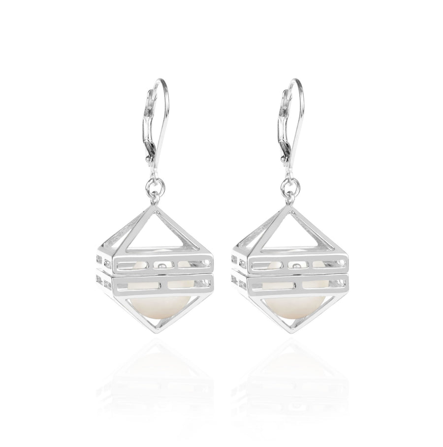 Beauty Within Earrings with Pearls, Silver