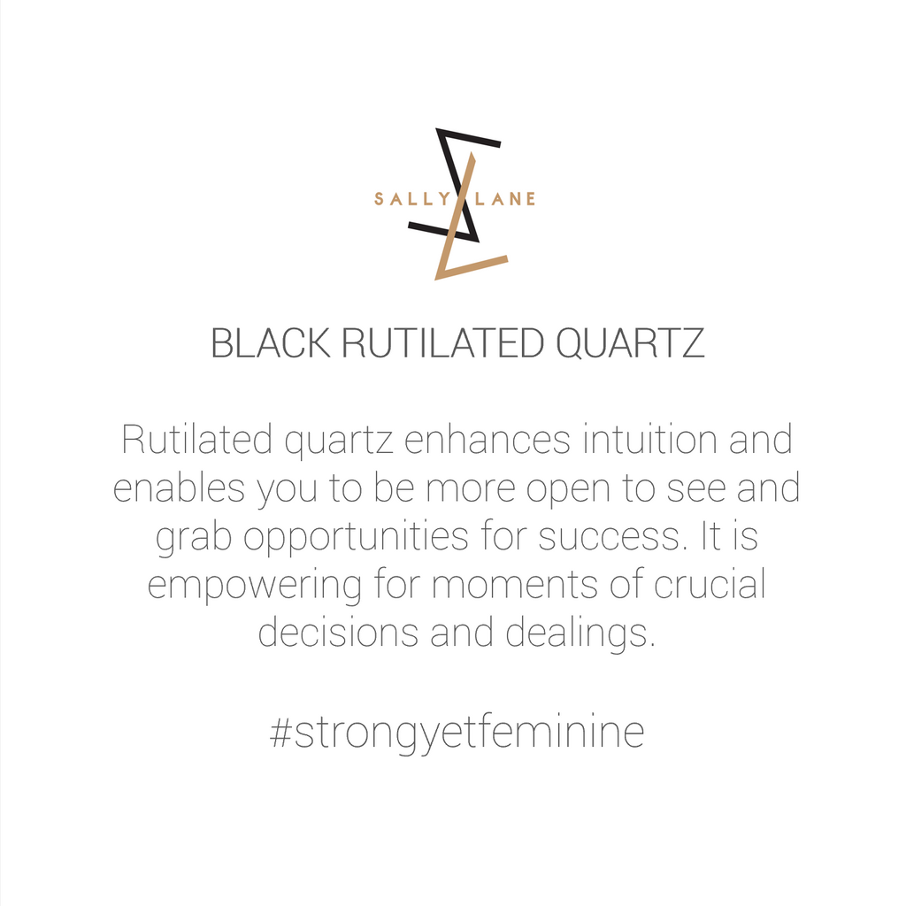 Be You, Gemstones ONLY for Cuff - Black Rutilated Quartz