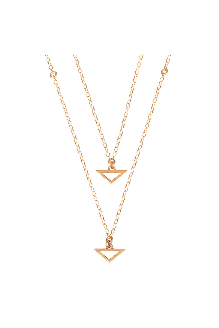 Double Trouble, Gold Multi-Layered Necklace