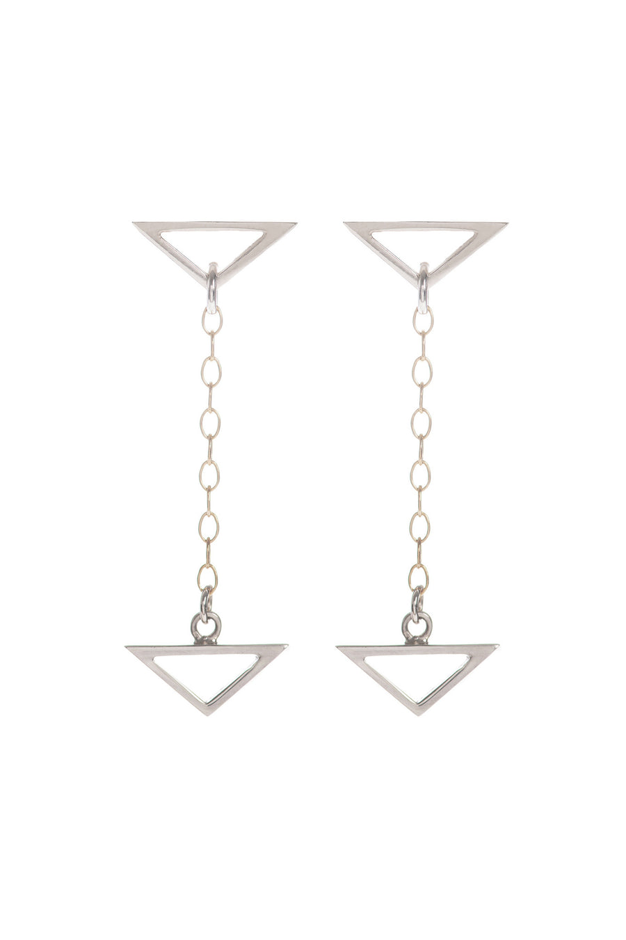 Hang Loose, Silver Drop Earrings