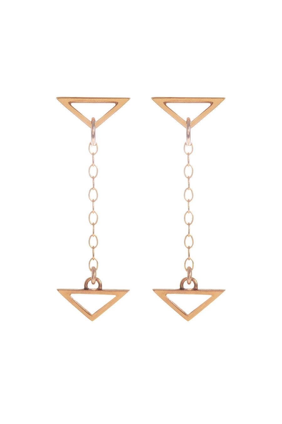 Hang Loose, Gold Drop Earrings