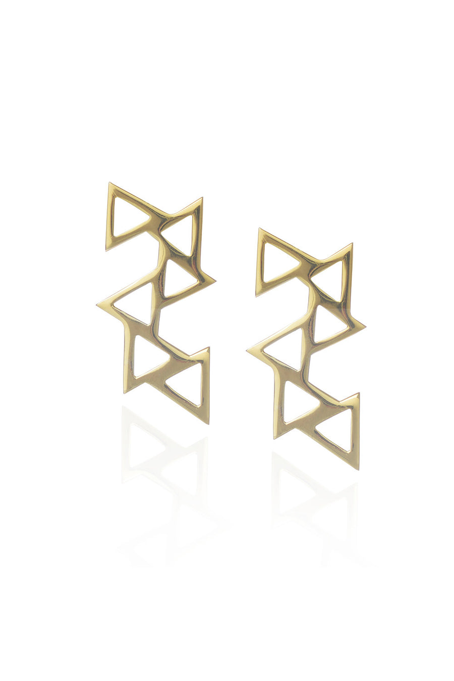 Ladder of Life, Gold Earrings