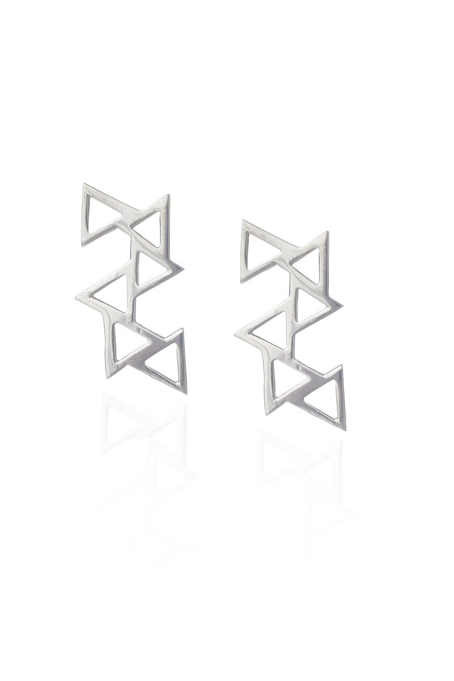 Ladder of Life, Silver Earrings