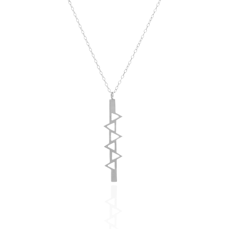 Ladder of Life, Long Silver Pendant