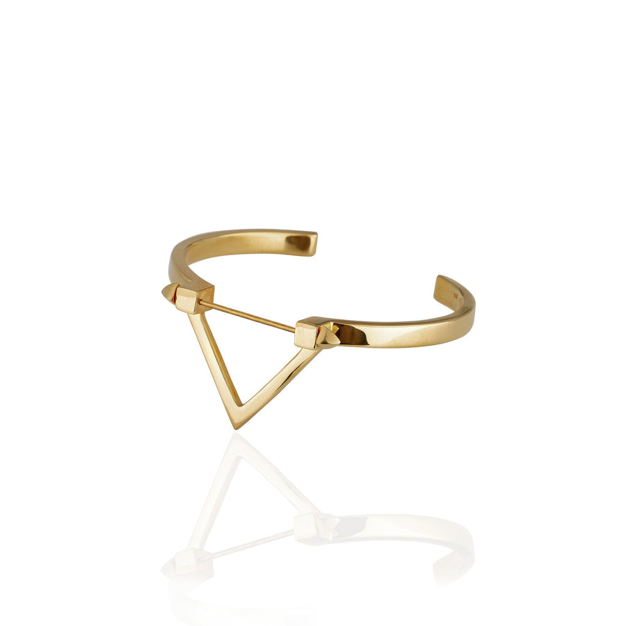 Wholesale - Be You, Gold Cuff  (BUY GEMSTONES SEPARATELY)