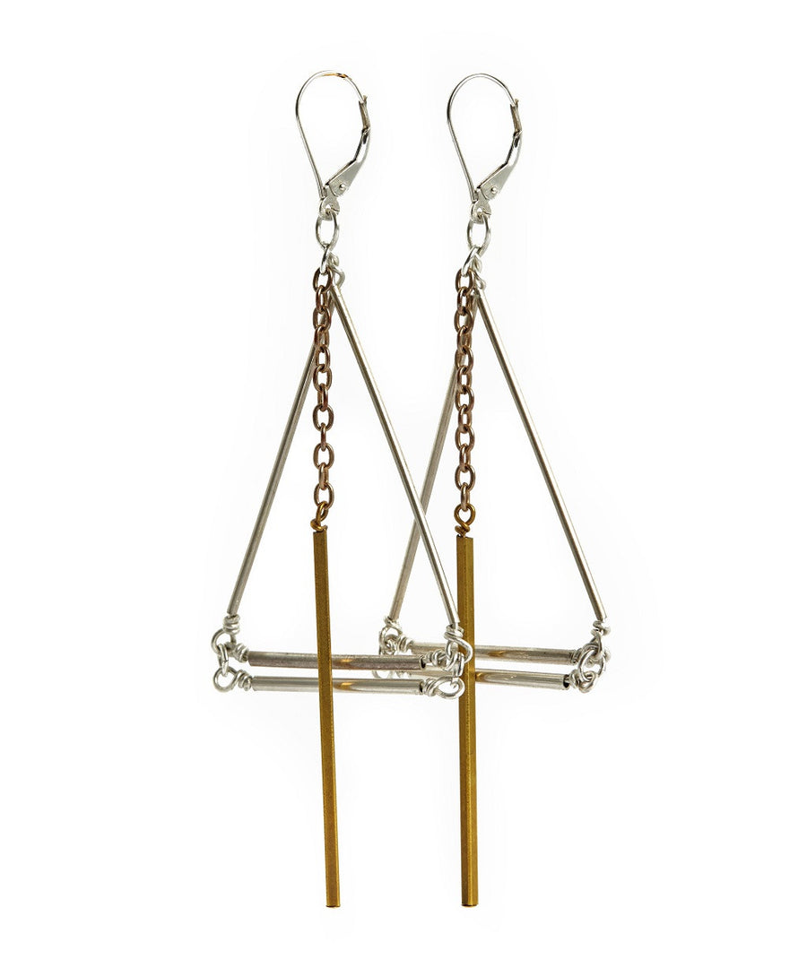 Playground, Silver and Gold Earrings