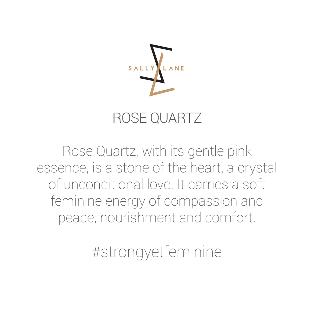 Be You, Long Gemstones for Earrings - Rose Quartz