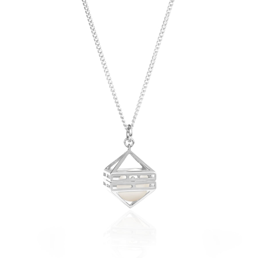 Beauty Within Pendant with Freshwater Pearl, Silver