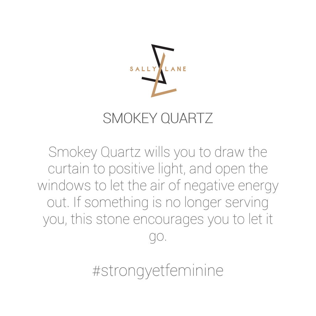 Be You, Gemstones ONLY for Cuff - Smokey Quartz