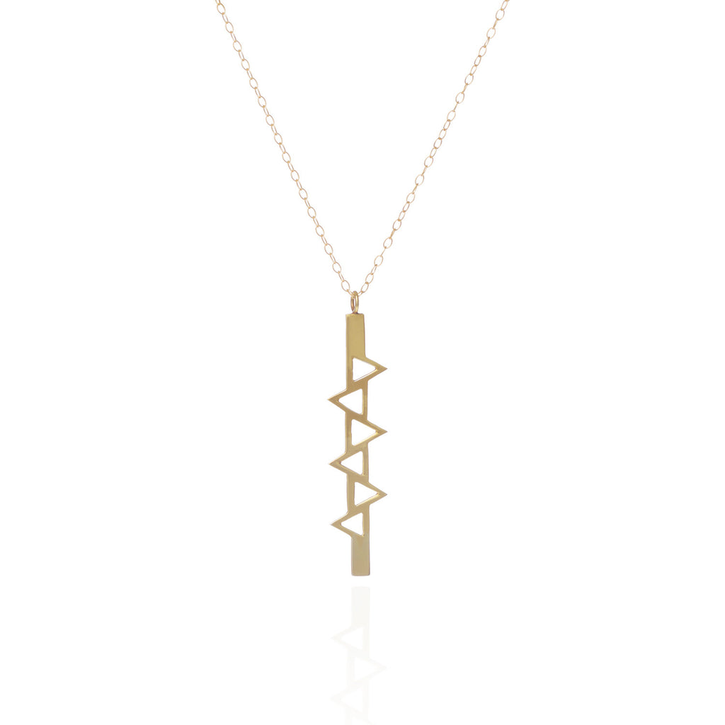 Ladder of life long gold pendant sally lane jewellery long gold pendant next mozeypictures Choice Image