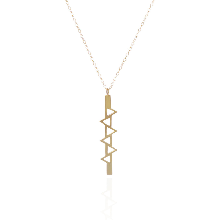 Ladder of Life, Long Gold Pendant