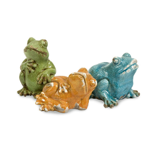 Lounging Casual Frogs - Set of 3