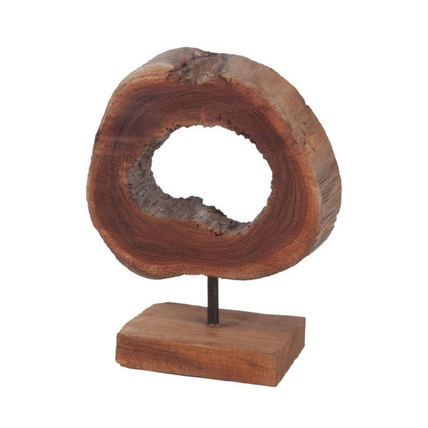 Rounded Teak Sculpture