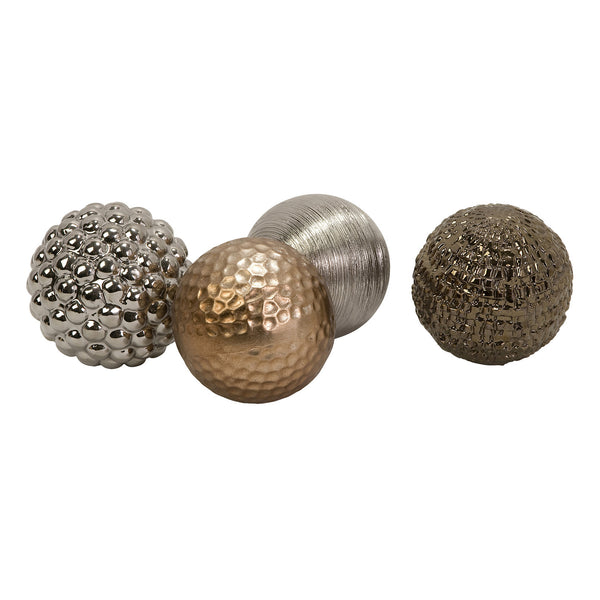 Metallic Orbs - Set of 4